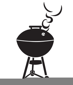 Grill clipart. Black and white free
