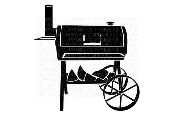 Grill clip art panda. Grilling clipart bbq smoker