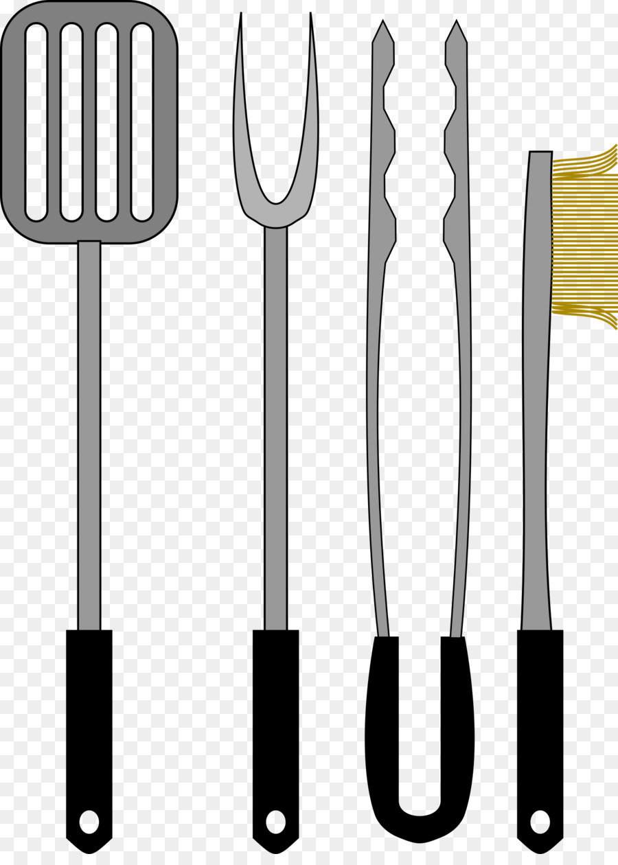 Grilling clipart bbq tongs. Kitchen cartoon png download