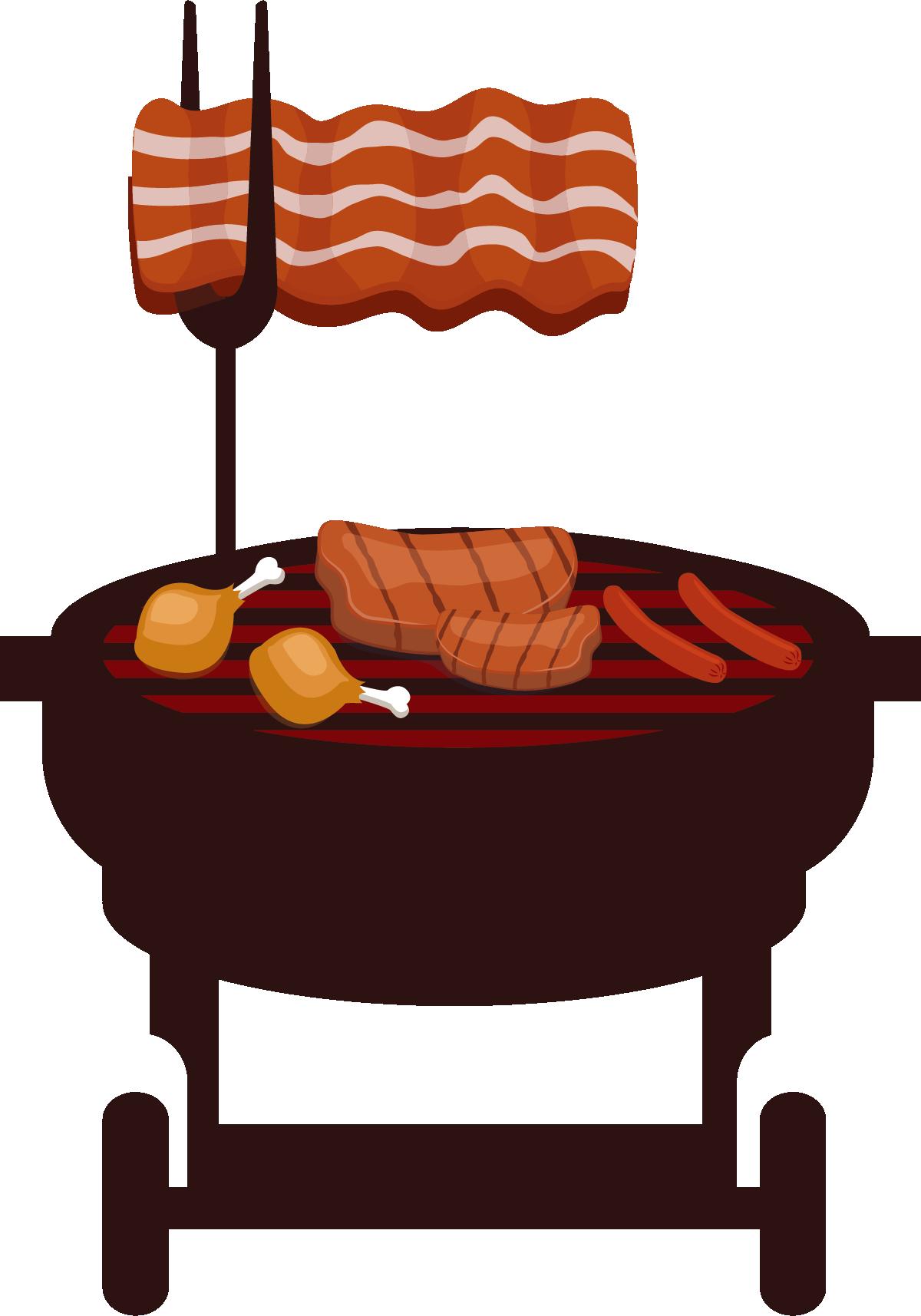 Grilling clipart picnic table umbrella. Barbecue grill barbacoa churrasco
