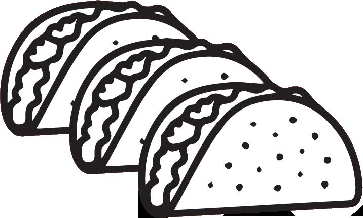 Nachos clipart black and white. Tacos group xoco modern