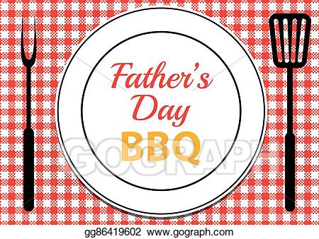 Vector stock fathers bbq. Grill clipart father's day
