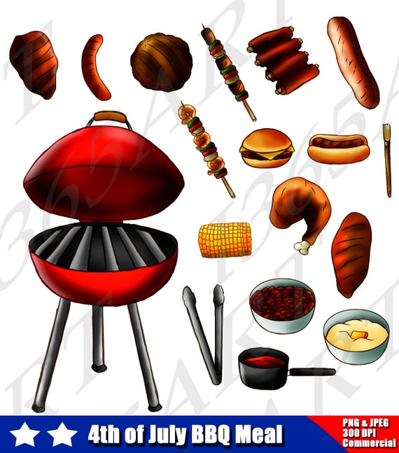 off bbq clip. Grill clipart fourth july food