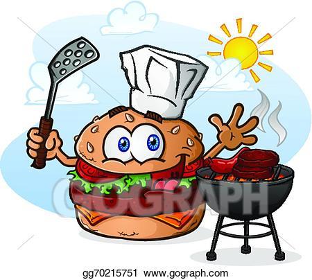 Hamburger clipart grill clipart. Vector stock cheeseburger cartoon