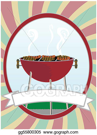 Eps illustration bbq cooking. Grill clipart hot object