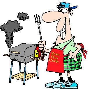 Grilling clipart labor day. Funny bbq clip art