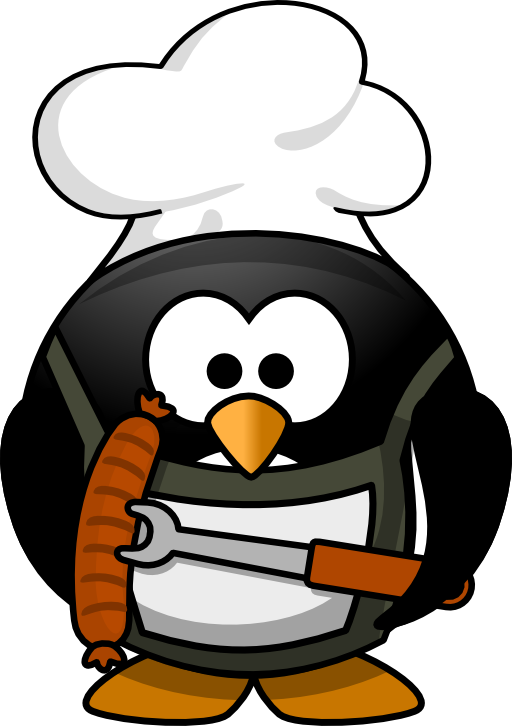 Grilling clipart christmas. Penguin i royalty free