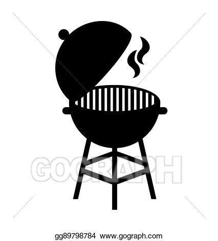 Grilling clipart silhouette. Vector grill hot isolated