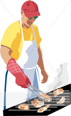 Summer grill barbeque. Grilling clipart