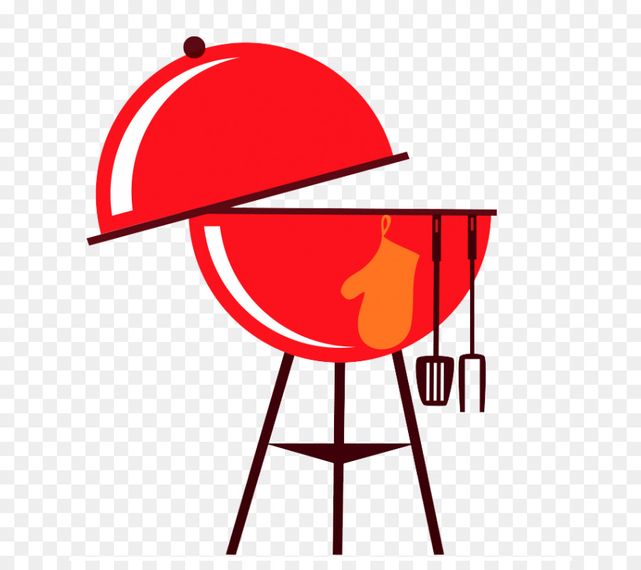 Grilling clipart barbecue. Red background line transparent