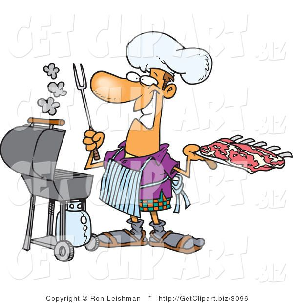 Grilling clipart bbq rib. Clip art of a