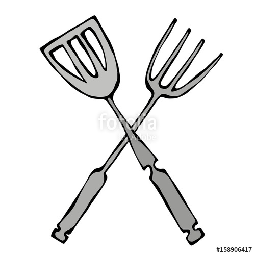 Or grill tools icon. Grilling clipart bbq tongs