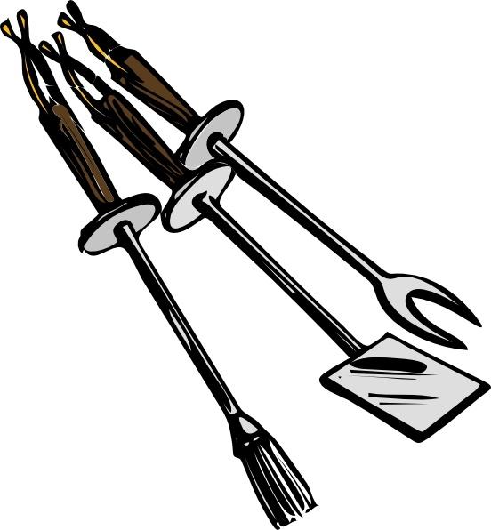 Tools clip art free. Grilling clipart bbq tongs