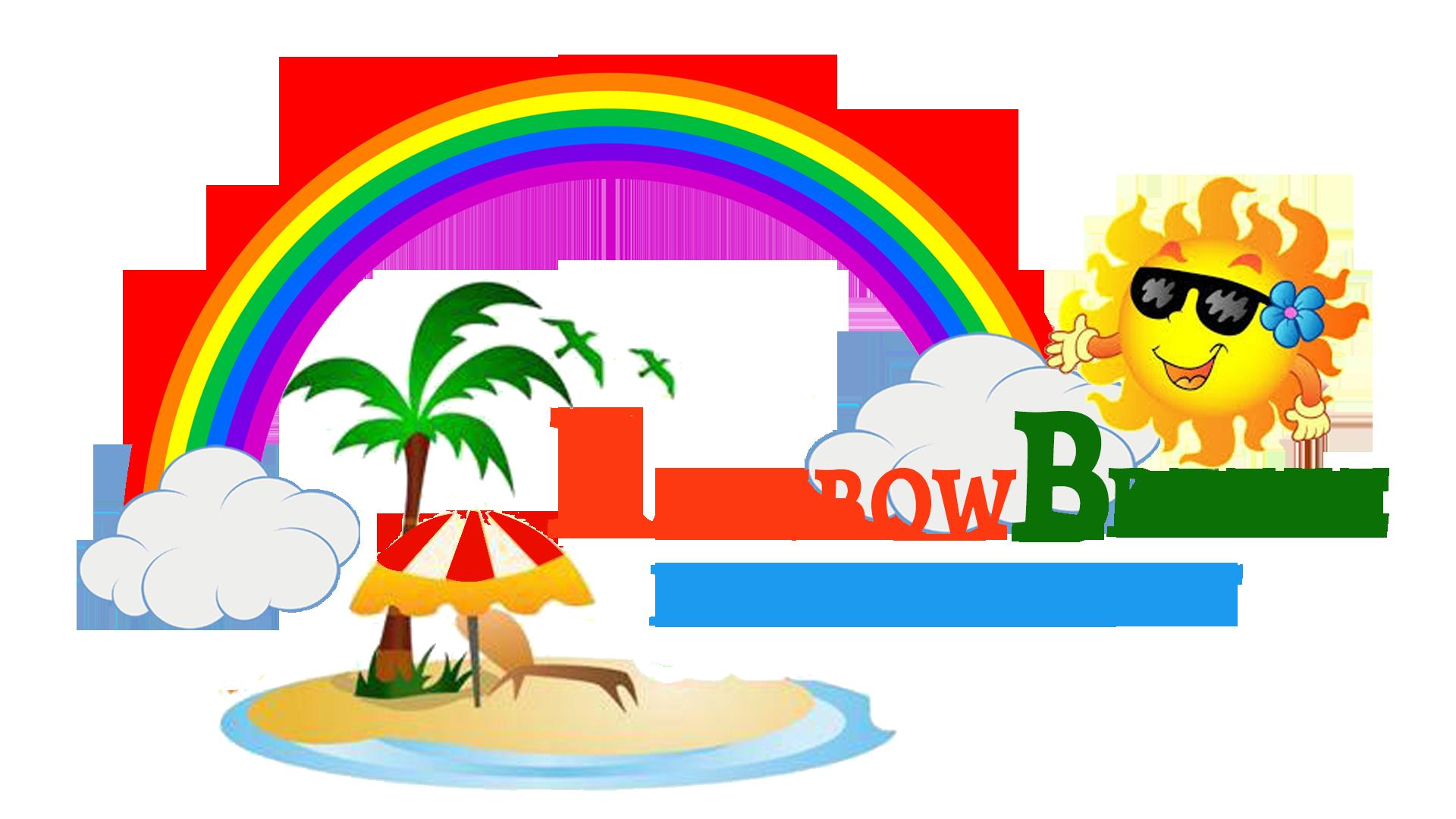 Features rainbow breeze resort. Grilling clipart beach