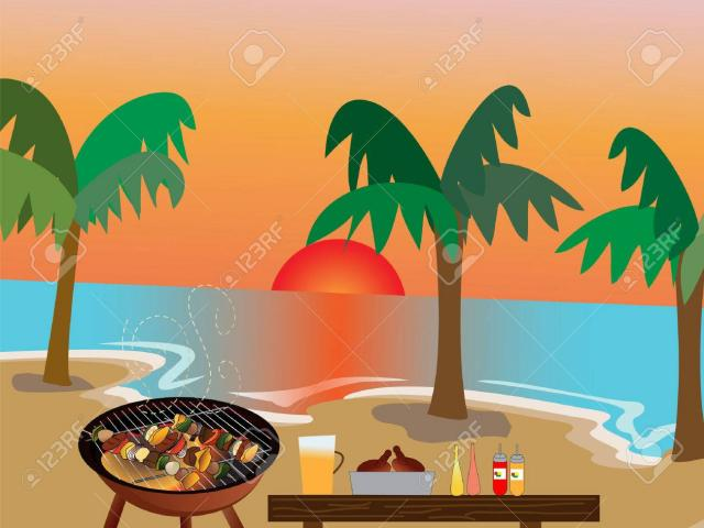 Grilling clipart beach. Free grill download clip
