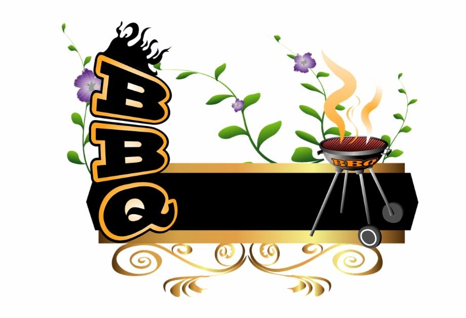 Bbq word transparent background. Grilling clipart celebration