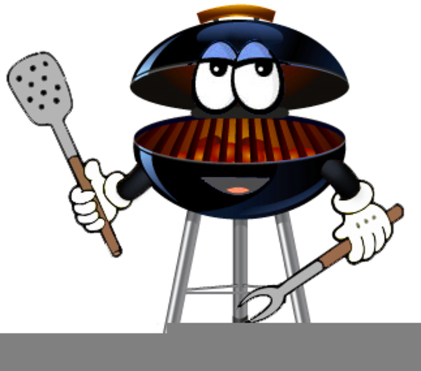 Cartoon barbecue outdoor grill. Grilling clipart grillclip