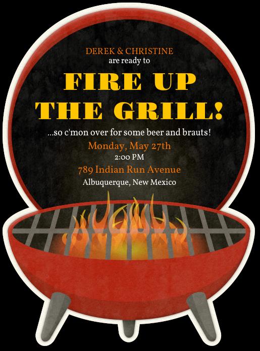 Design your invitation bbq. May clipart barbecue