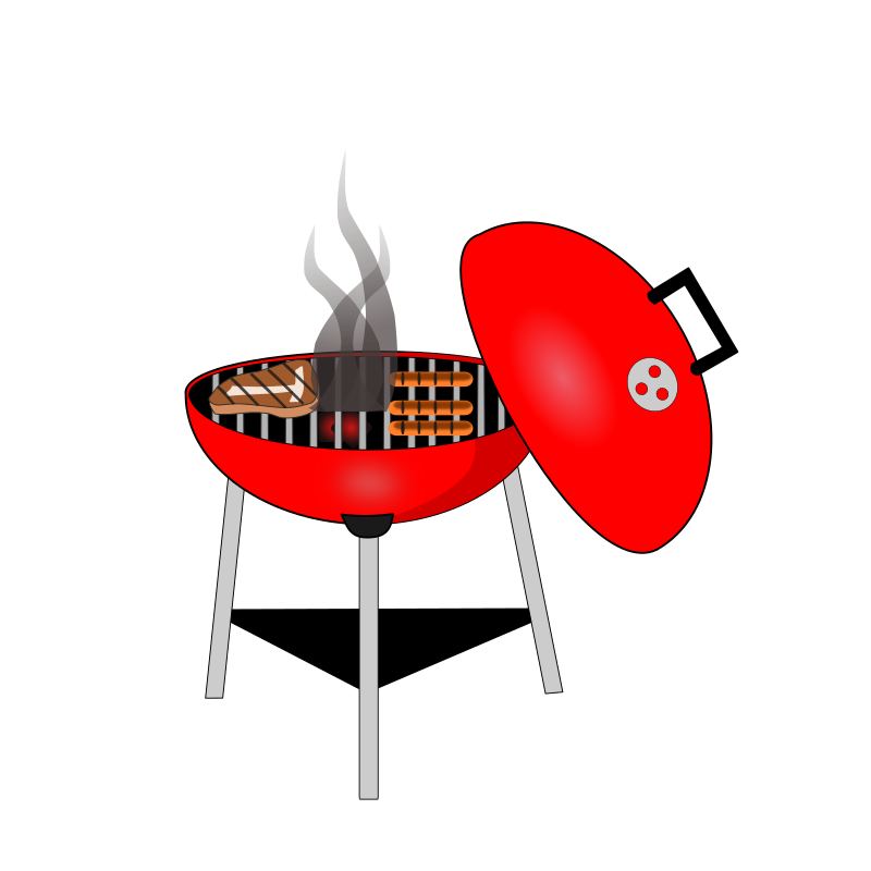 Barbecue grill medium image. Grilling clipart logo