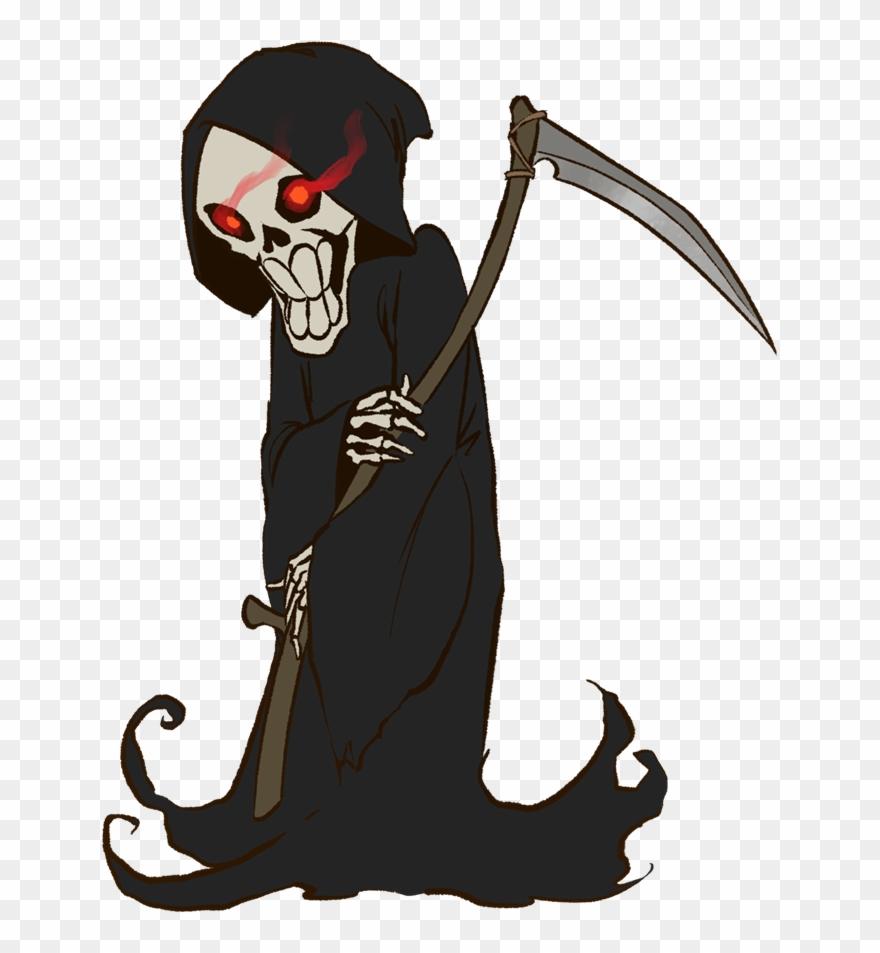 Female halloween cartoon . Grim reaper clipart