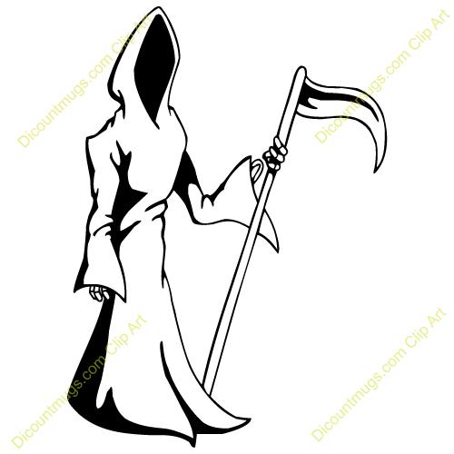 Grim reaper clipart. Flaming