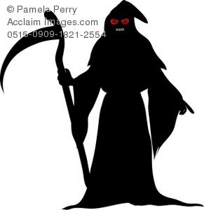 Clip art illustration of. Grim reaper clipart