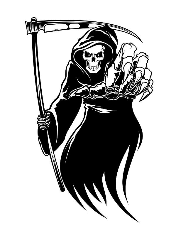 Grim reaper clipart.  clip art clipartlook