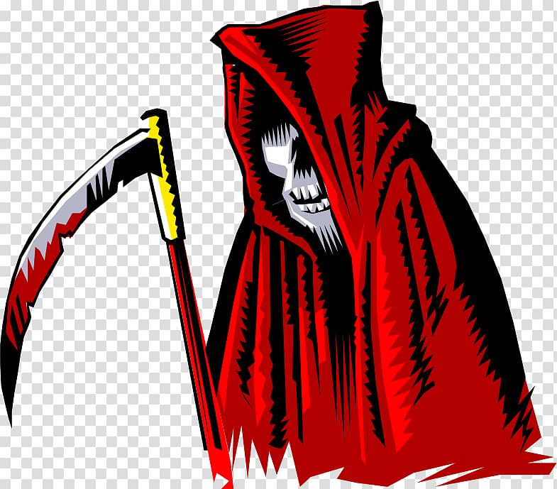 Grim reaper clipart death. Cartoon transparent background png