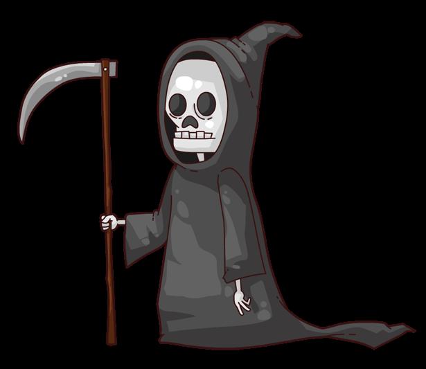 Grim reaper door