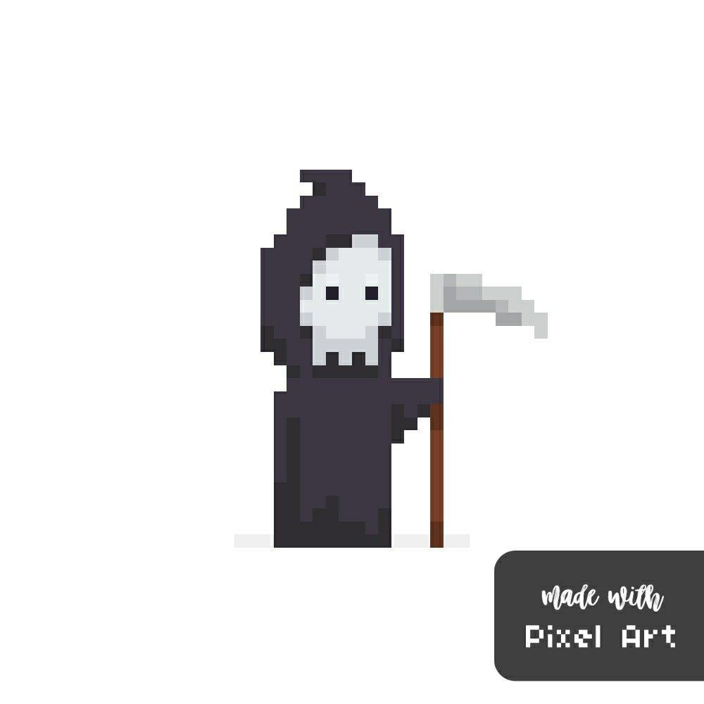 In pi . Grim reaper clipart pixel art