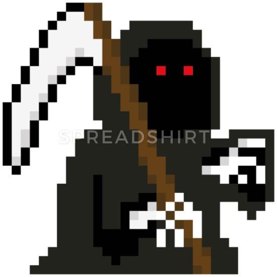 Grim reaper clipart pixel art. Pixelart mouse pad horizontal
