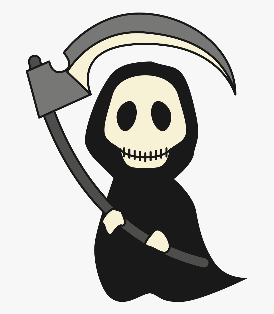 Grim reaper clipart side view. Not so