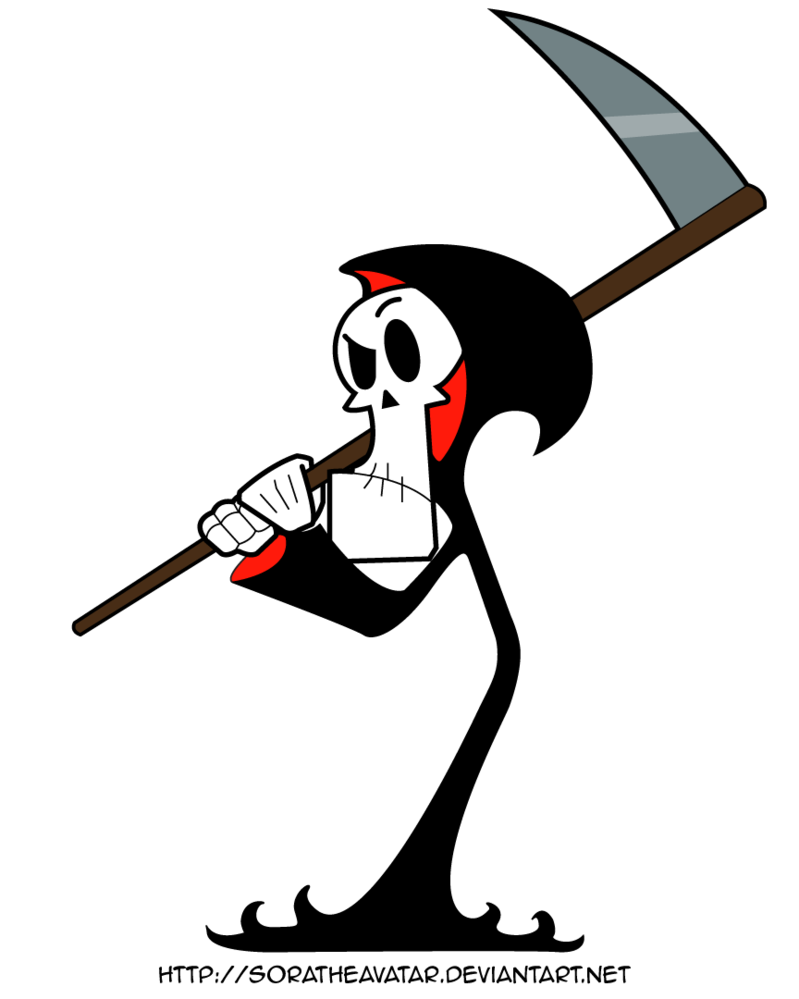 By soratheavatar on deviantart. Grim reaper clipart side view