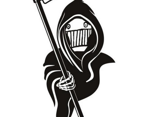 Grim reaper clipart side view. Free art deco download