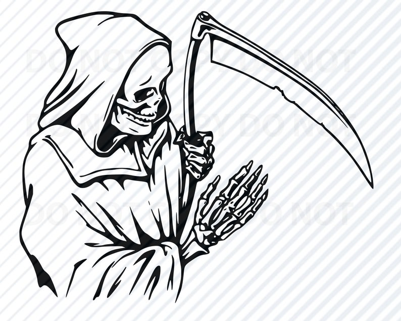 Halloween files for cricut. Grim reaper clipart svg