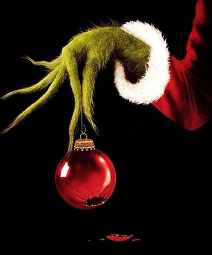 Grinch clipart broken ornament. Free holding outline crafts
