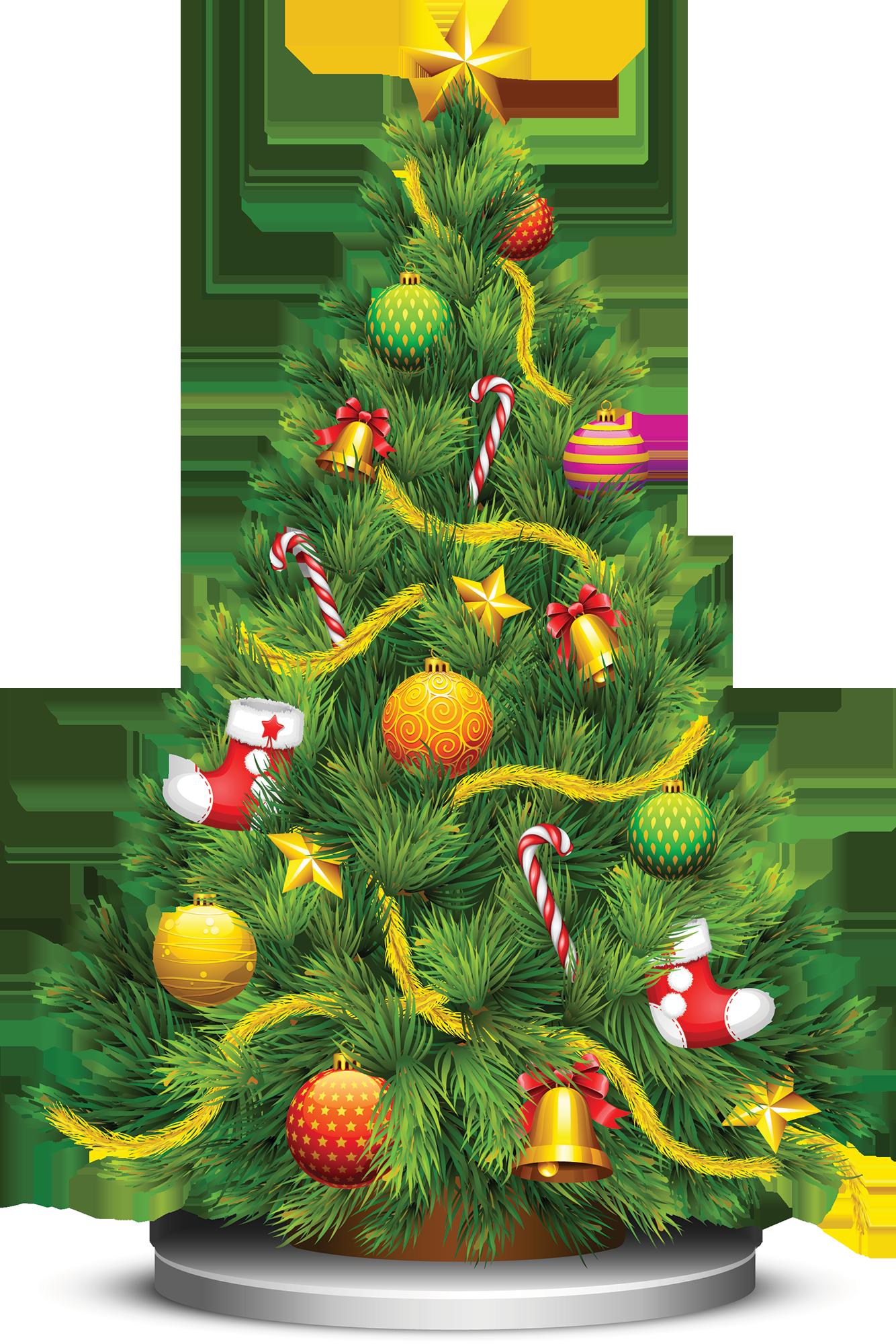 hawaiian clipart christmas tree