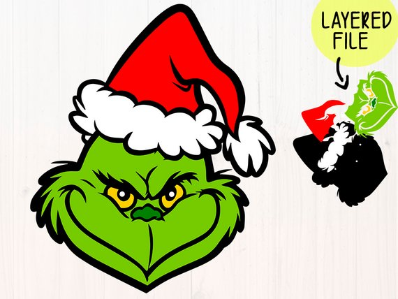 Grinch clipart file. The svg files face