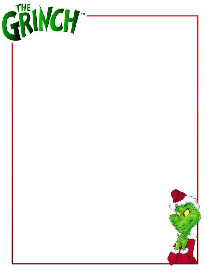 Christmas images on party. Grinch clipart frame