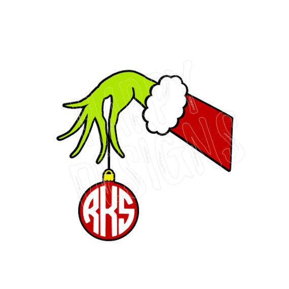Grinch clipart monogram. Pin on christmas svg