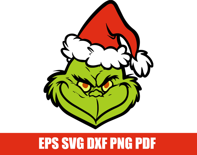Grinch clipart pdf. The svg face cutfile