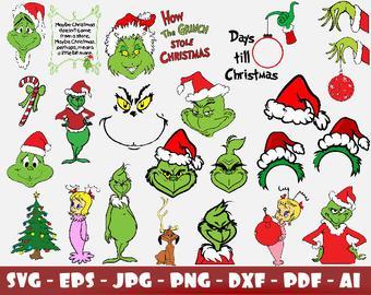 Grinch clipart pdf. Changos etsy