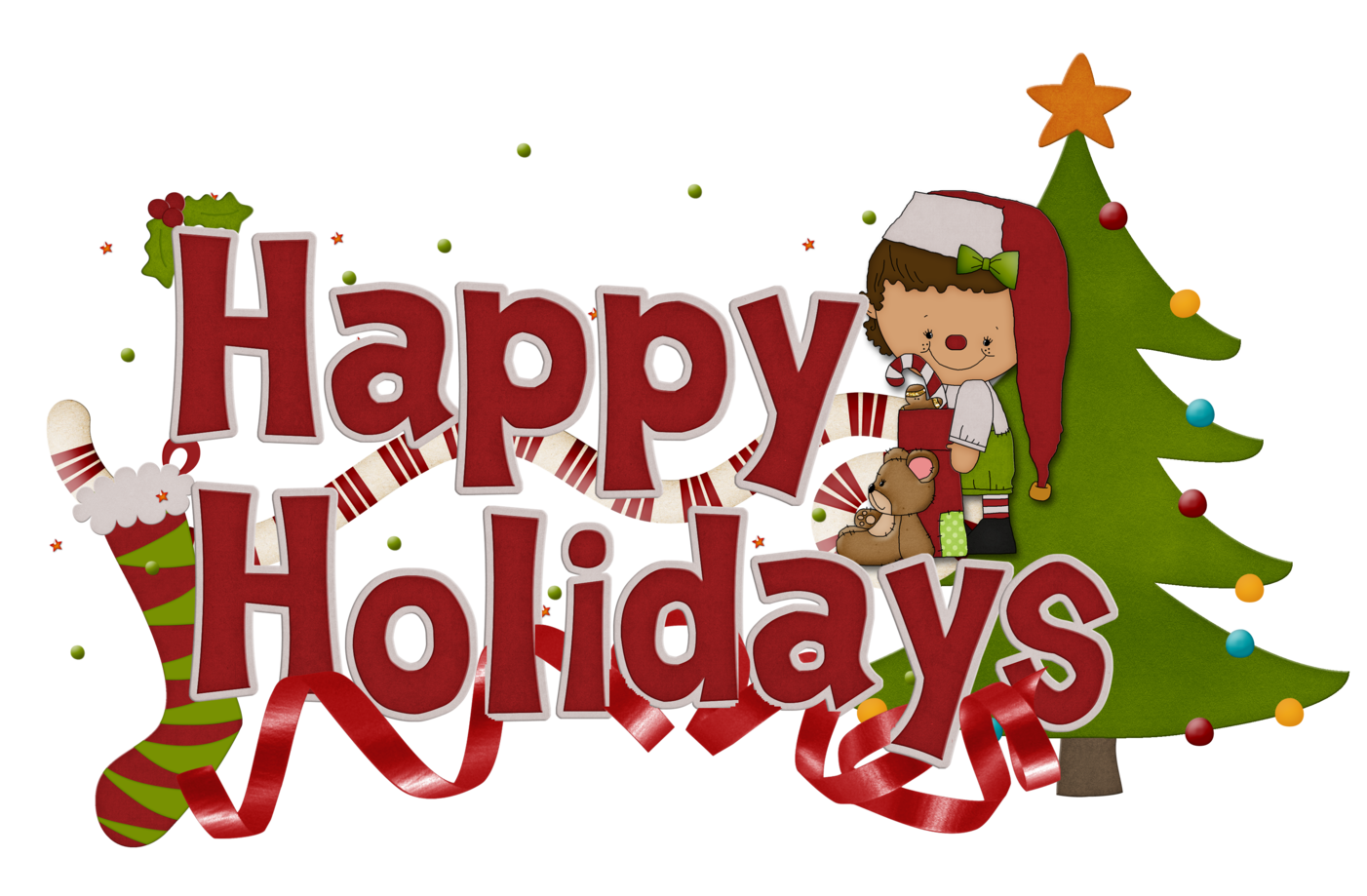 Holiday clipart chalkboard. Free happy holidays clip