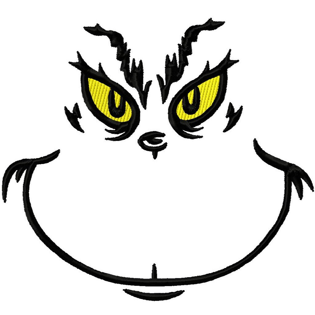 Black white wikiclipart . Grinch clipart vector