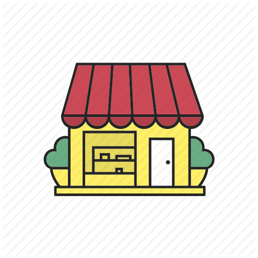 Grocery clipart cafe building.  buildings filled color
