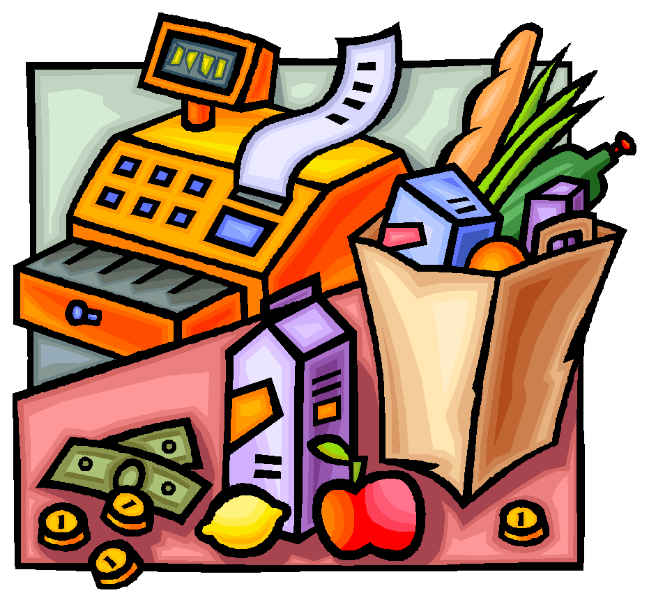 Grocery clipart cash register. Living on the cheap