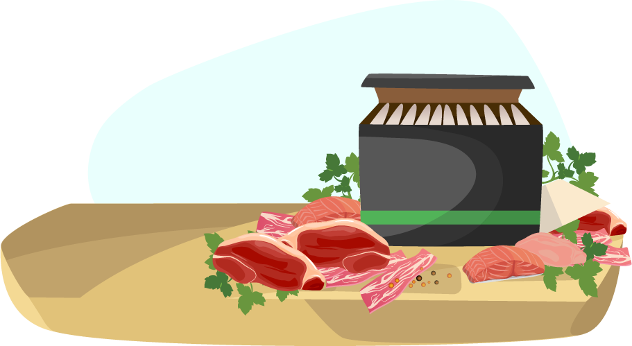 Pricing information delivery service. Ham clipart meat