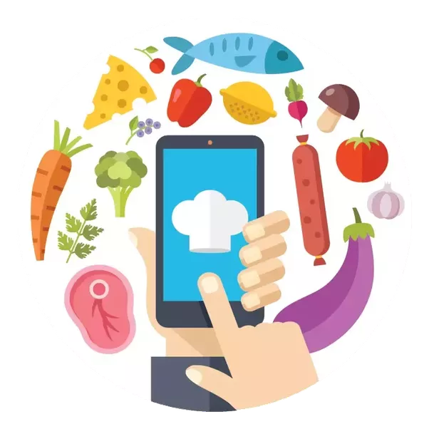 How to develop mobile. Men clipart grocery shopping