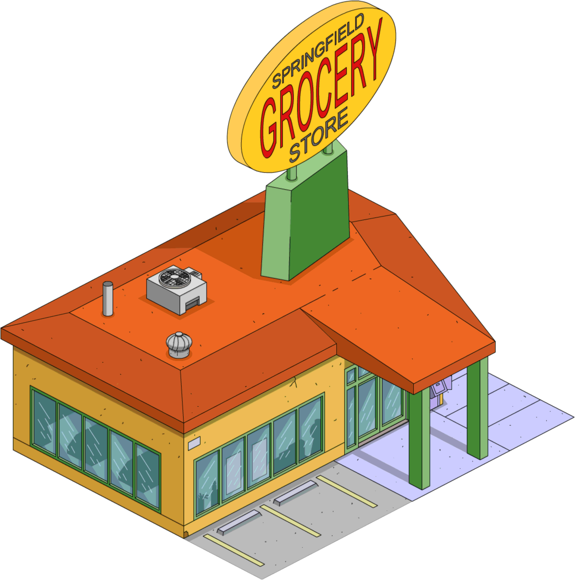 collection of transparent. Restaurants clipart grocery store building