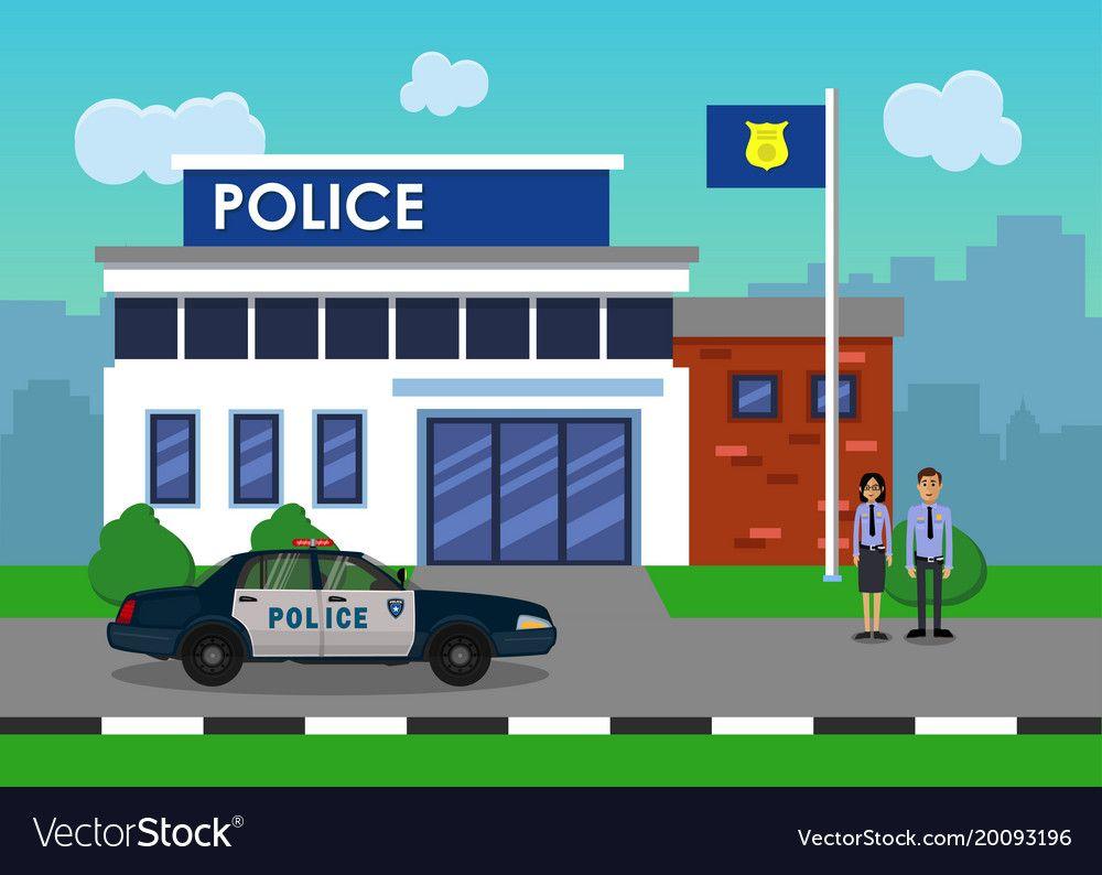 hospital clipart police station